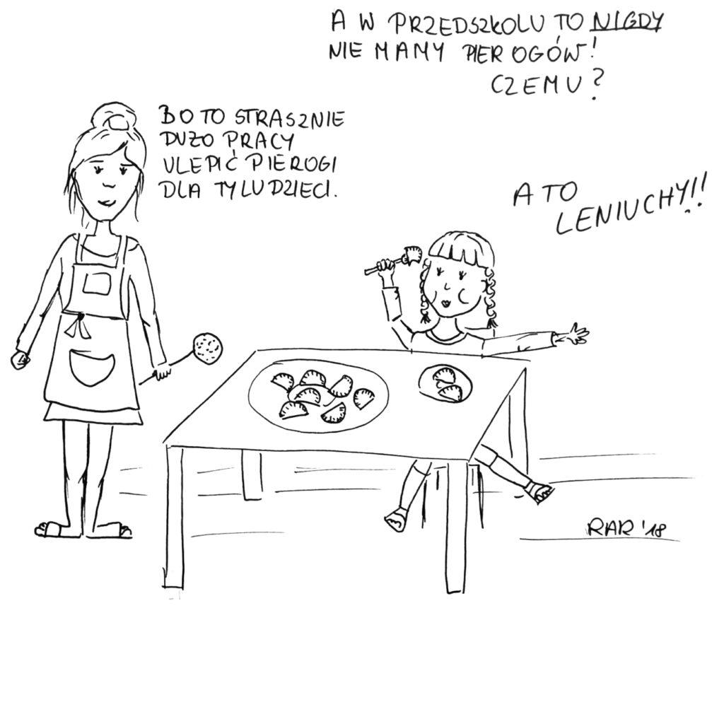 Pierogi nieleniwe vs leniwe kucharki.